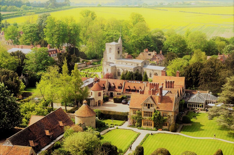Aerial view of Le Manoir